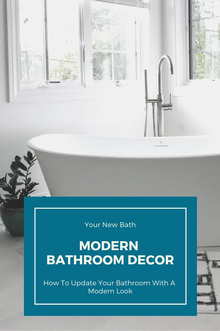 Modern Bathroom Makeover. WETSTYLE Cloud Collection Freestanding Bathtub. White Modern Bathtub. Bath tub ideas. Soaking tubs. Contemporary Bathtub ideas. #wetstyle #sponsored #contemporary #modern #freestanding #bathtub