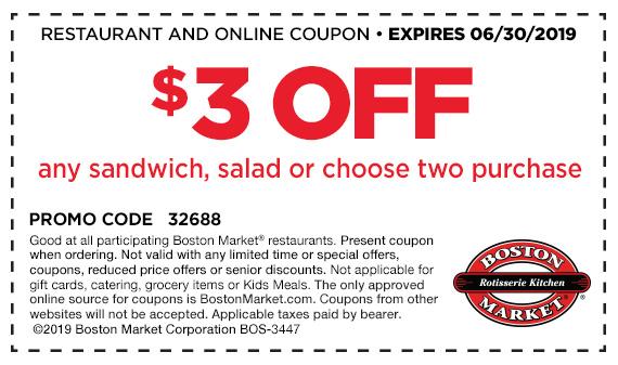 Boston Market Printable Coupon. #sponsored #ad #BostonMarket