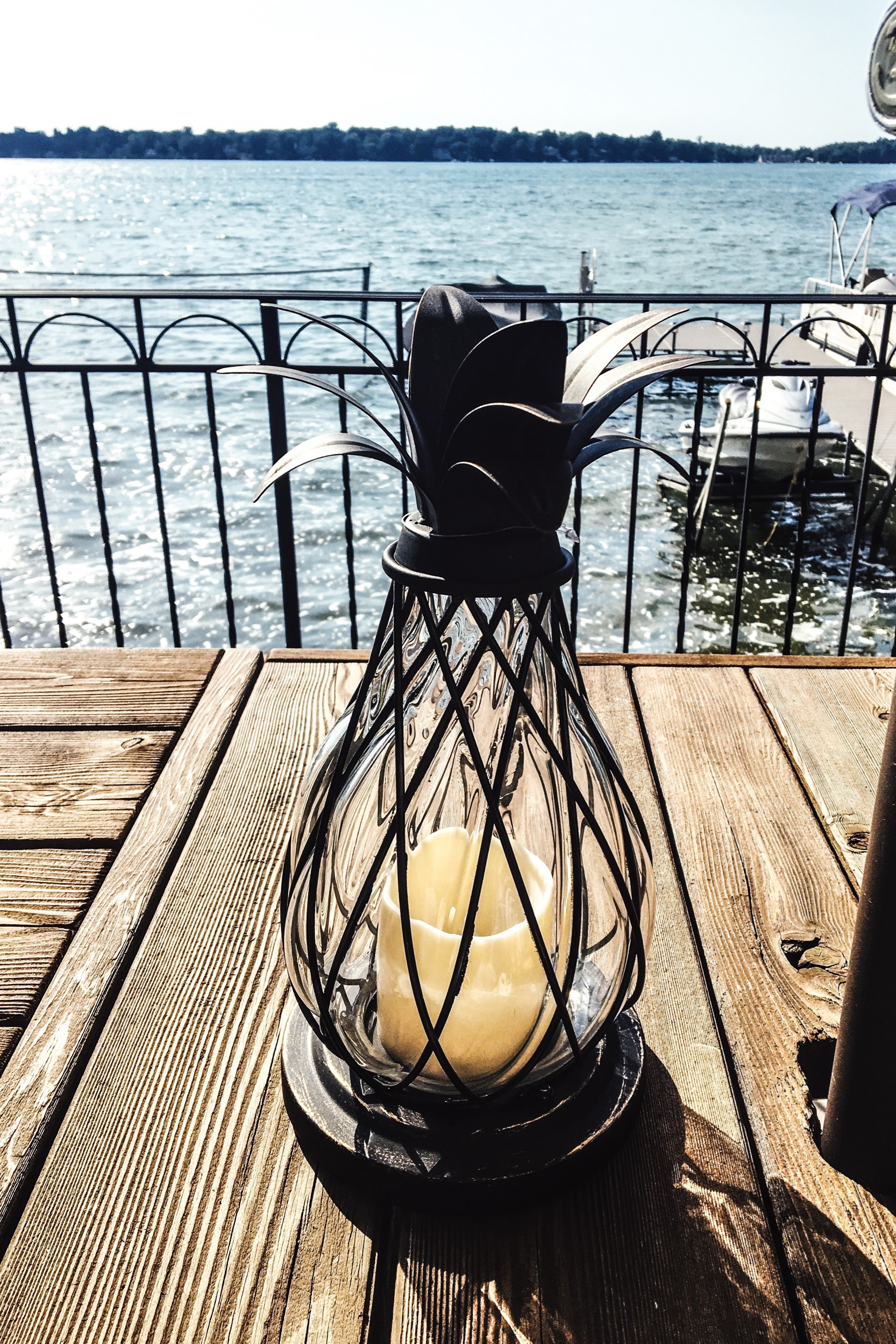 Decorative LED Outdoor Lantern Ideas. Lake house lighting ideas. Deck lighting. Out door LED lights. #lakehouse #outdoor #light #ideas