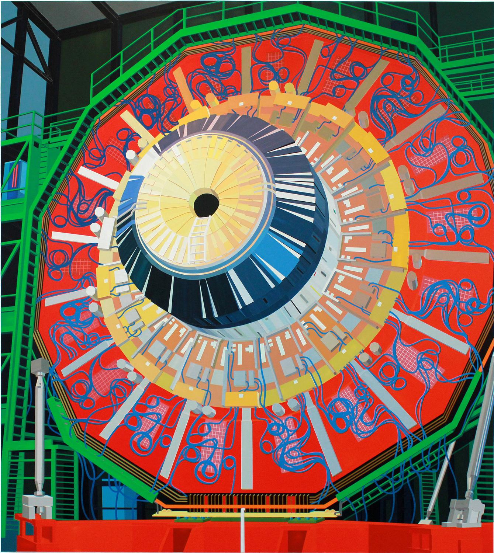"CERN (Large Hadron Collider), 2014. Acrylic on Dibond, 66 x 59"""