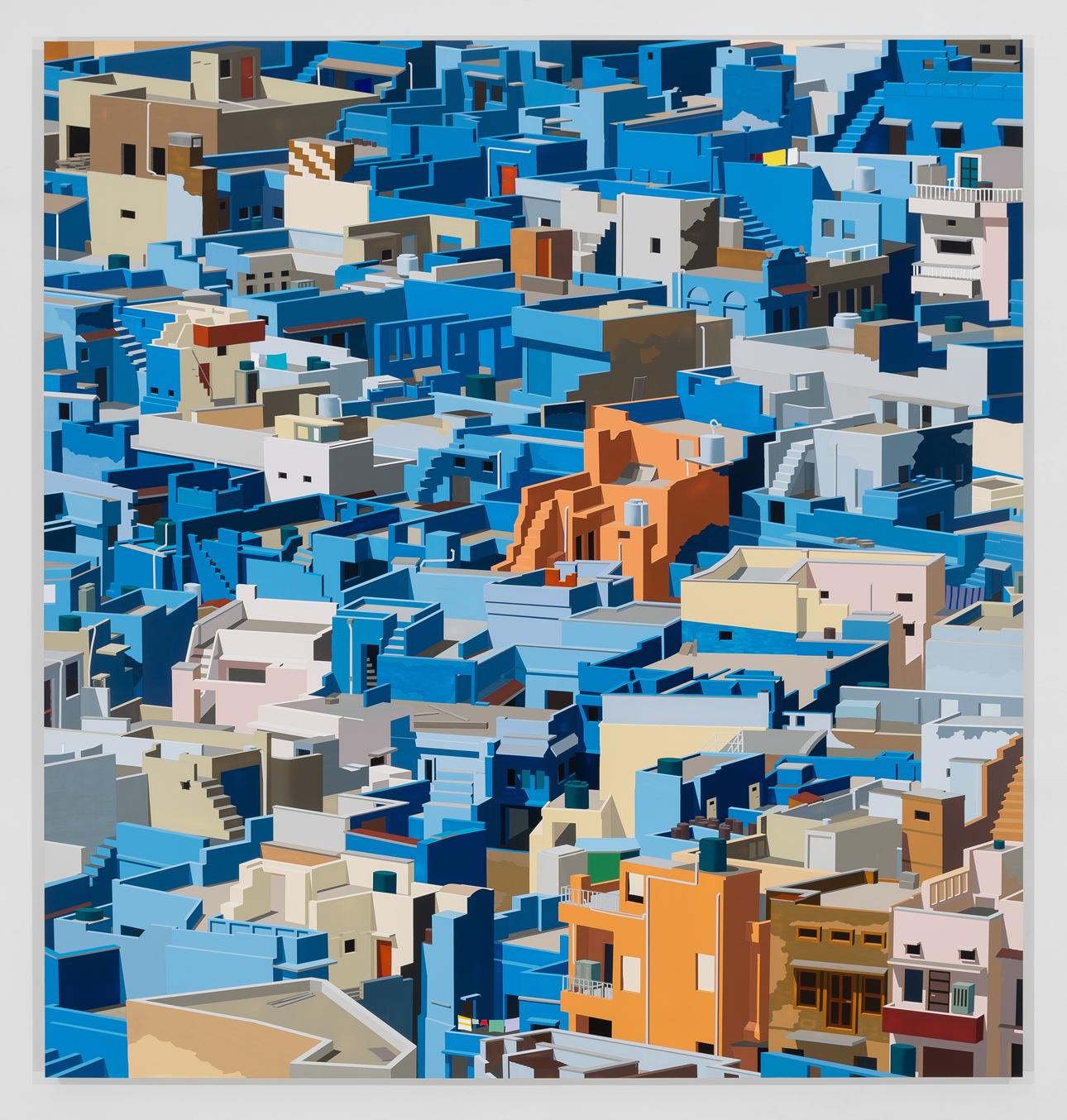 "Jodhpur, India, 2016. Acrylic on Dibond, 63 x 59.5"""