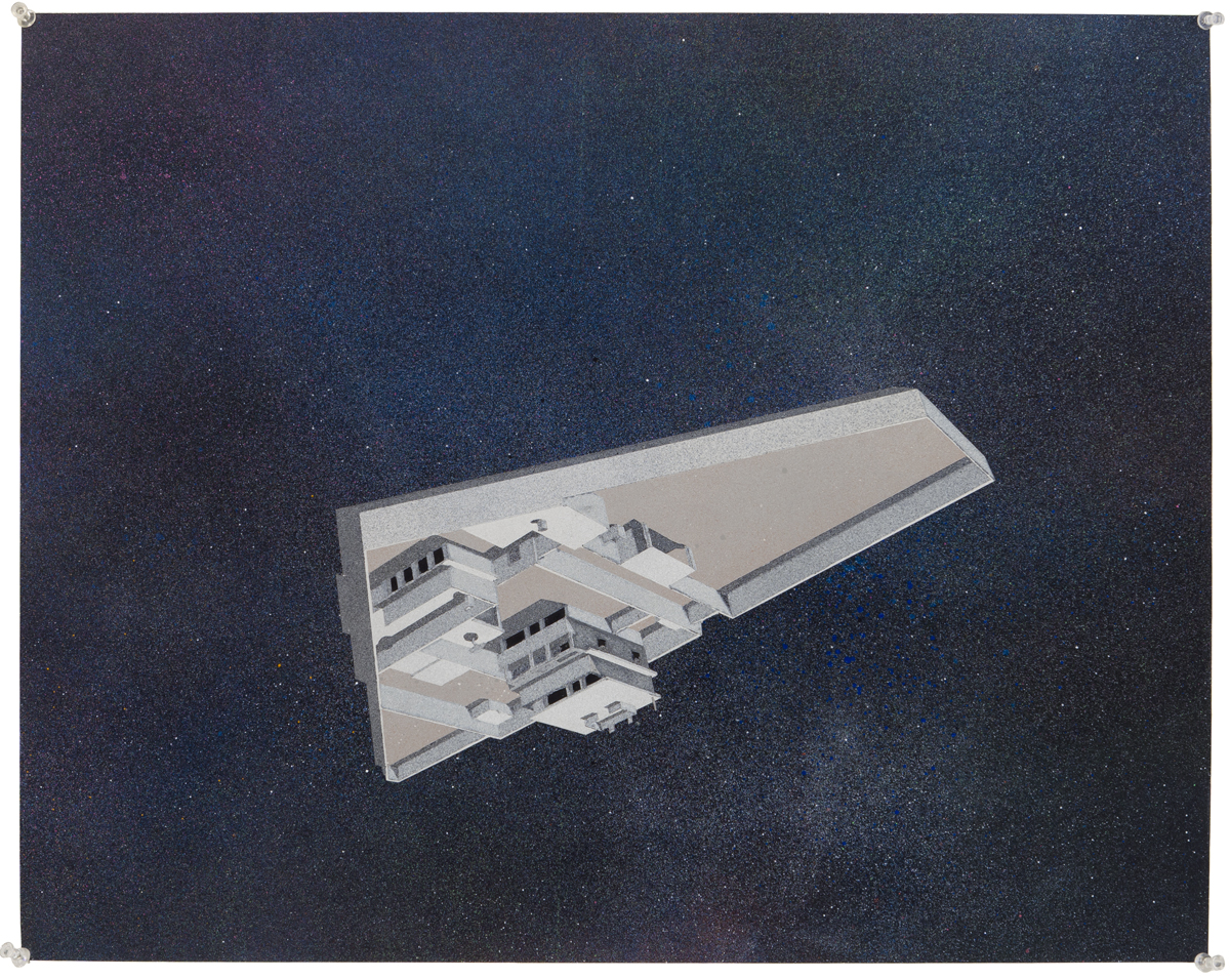 Flying Saucer, 2012. Acrylic on paper 20 x 28 inches