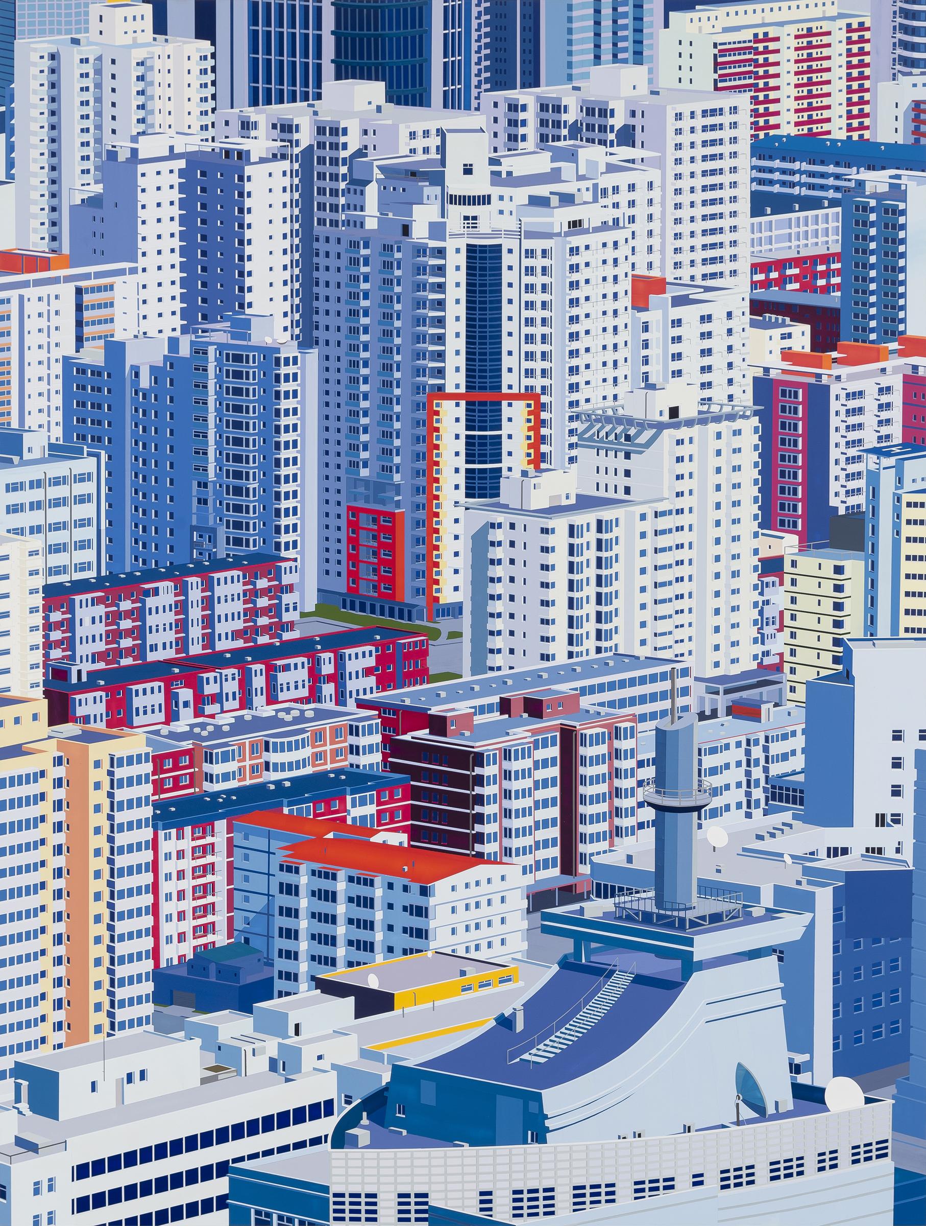"Beijing, 2014. Acrylic on Dibond, 78 x 59"""