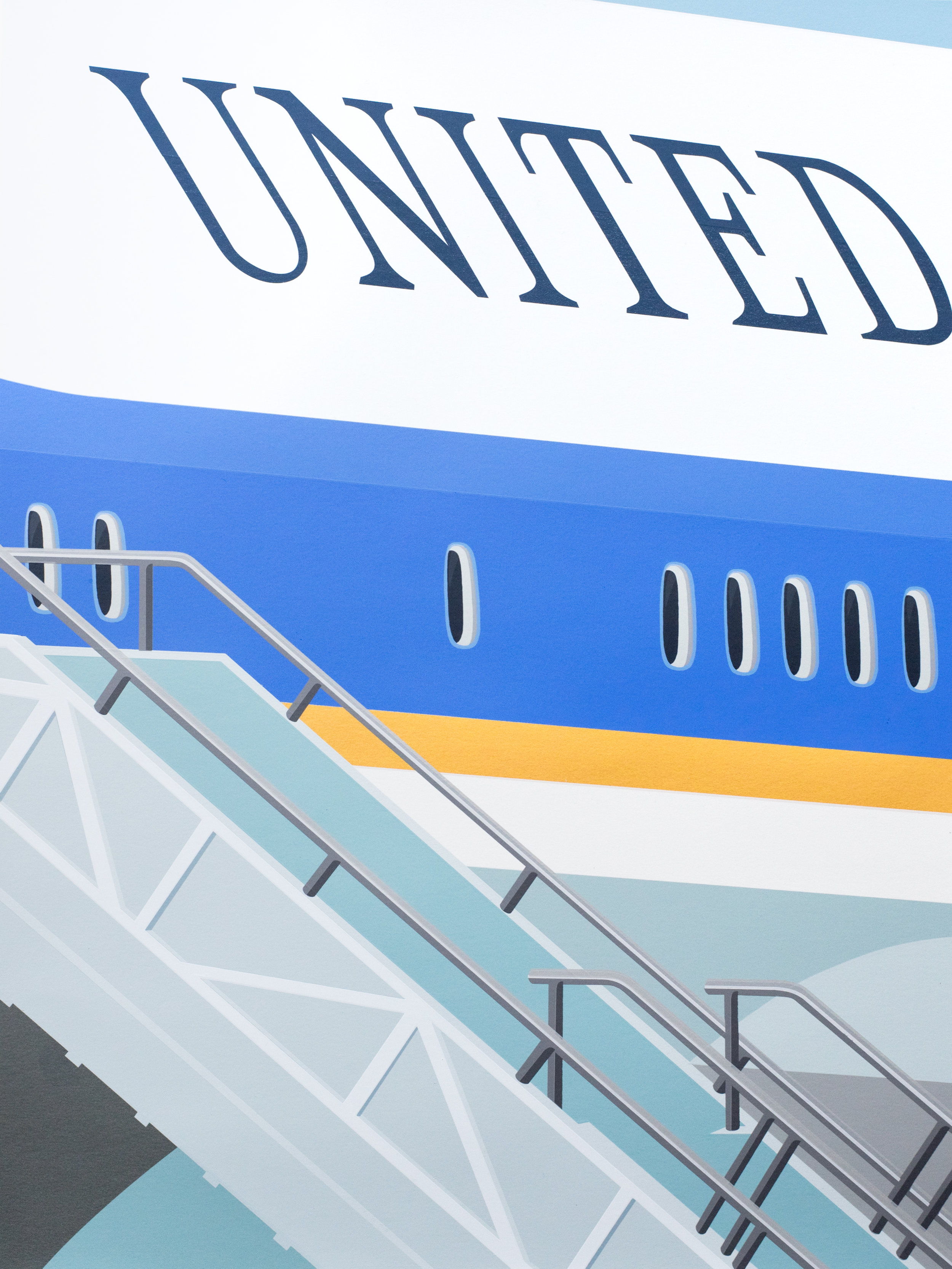 Air Force One, 2018, screenprint, 26.5 x 19.75 inches image and sheet, edition of 10,