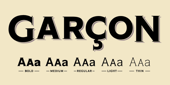 Garçon Grotesque by Thomas Jockin. Image via myfonts.com