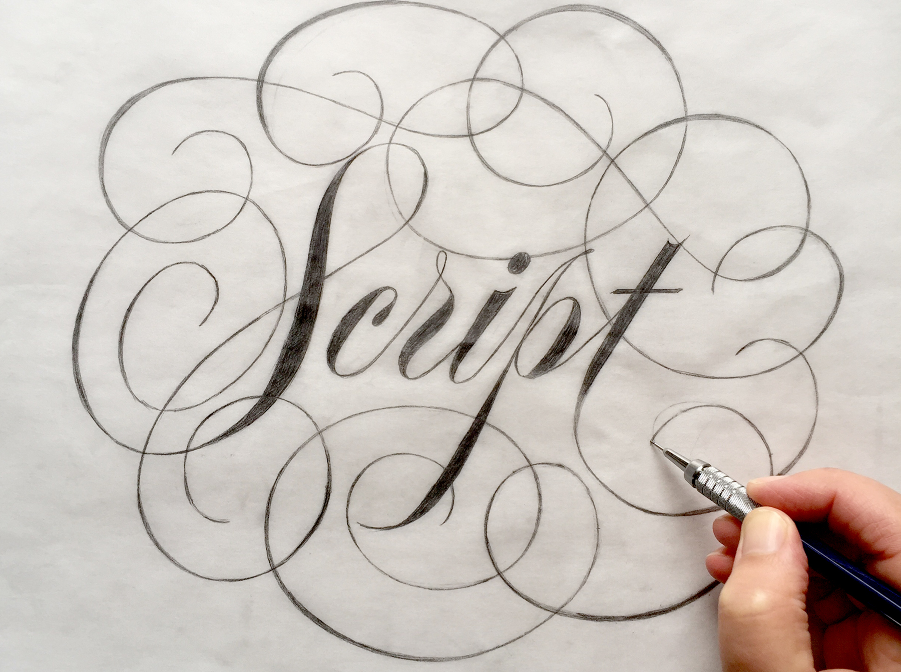Custom lettering piece drawn by Veronica Grow.