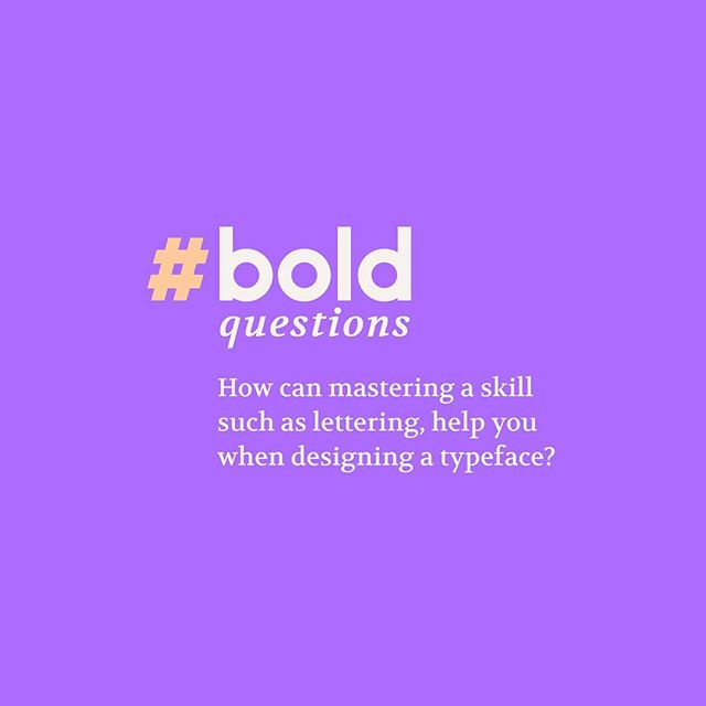 Last year I met @veronicagrowtype in @typographicsnyc she was really nice and we got to talk a bit about type and the burst that lettering and type design are having in places like South America and Asia. Fast forward a year later, and now she is answering our third #boldquestion! Veronica is the founder and director of @oldschoolnewschool, Australia's first and only Typographic Education Centre to specialize in teaching type & lettering. She focuses on hand drawn lettering as a base for learning typography, which makes her the perfect candidate for this question:  Q: How can mastering a skill such as lettering help you when designing a typeface? — www.typebasics.co . . . #typebasics #type #typography #typeporn #typedesign #typespire #typeverything #typegang #goodtype #thedailytype #typism #actypist #typographyinspired #typelove