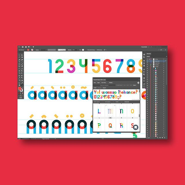 """In all honesty, I'm often scared by the complexity of font development software such as FontLab, Robofont, or even Glyphs. It is not that they are bad (Don't get me wrong), but I'm just not that acquainted to them like I am, for example, with Illustrator, or Photoshop. So it is always a bit daunting for me to use them. This is why when I recently found out about @fontself I was immediately intrigued. Fontself Maker is an add-on for Photoshop & Illustrator CC that allows you to turn any lettering piece, or those sketches that you probably have lying around because you believe you'll turn them into a typeface one day, into an OpenType font. The idea of using Illustrator and a drag & drop system to turn any vector shape into a character was really interesting to me, but what really caught my eye is that you can create color fonts, which means you can add multiple colors, shades, textures and transparency to type. The Gilbert font family (pictured above) is an amazing example of what you can create with FontSelf. (While the typeface artwork was created in Illustrator CC, it was then converted into font files with a custom build of the font creation add-on Fontself, which has been specifically adapted to generate color vector fonts). I'm looking forward to getting started on a project using it, but if you already have, please let us know how was it. :) Congratulations on this awesome project @fontself! """"Type making is about to go mainstream. Welcome to #typocracy!"""" - Franz Hoffman . . . #typebasics #type #typography #typeporn #typedesign #typespire #typeverything #typegang #goodtype #thedailytype #typism #actypist #typographyinspired #typelove"""