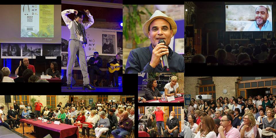 Presentación del documental  Tierra Líquida  de  María T. Solanot  en La Casa de las Culturas de Zaragoza.  Música Nómada Fest  2017 con  Ryo Matsumoto,  bailaor de flamenco japonés, Eugenio Tejero,  El Confu,  cantaor de flamenco y  Fulanito de Tal,  músico cubano .