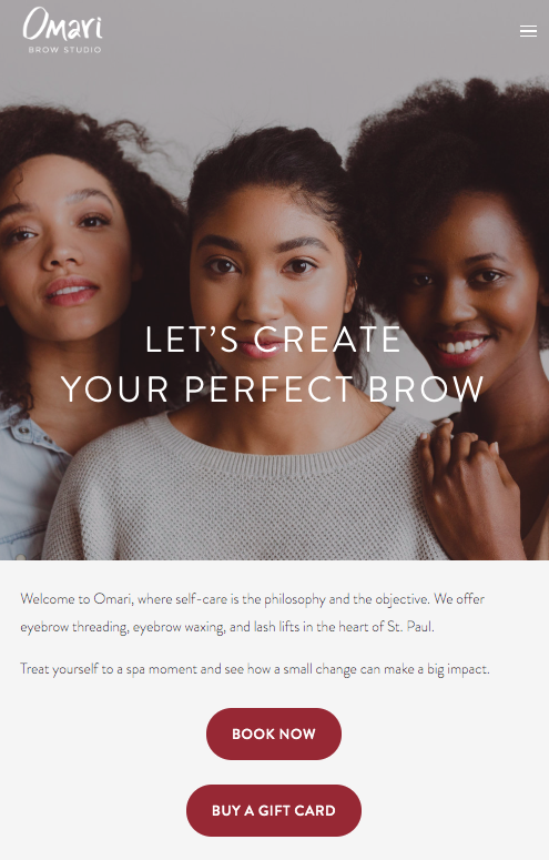 Omari homepage