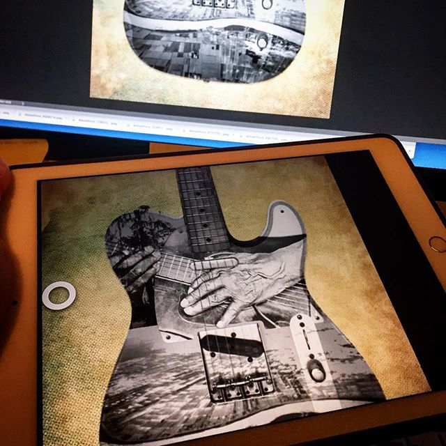 Finishing a secret project poster then back to my overdue book cover. The iPad tethered to the iMac with @astropadapp works very well. I am liking it. #astropad #ipadplus #photoshop #showposters #graphicdesign