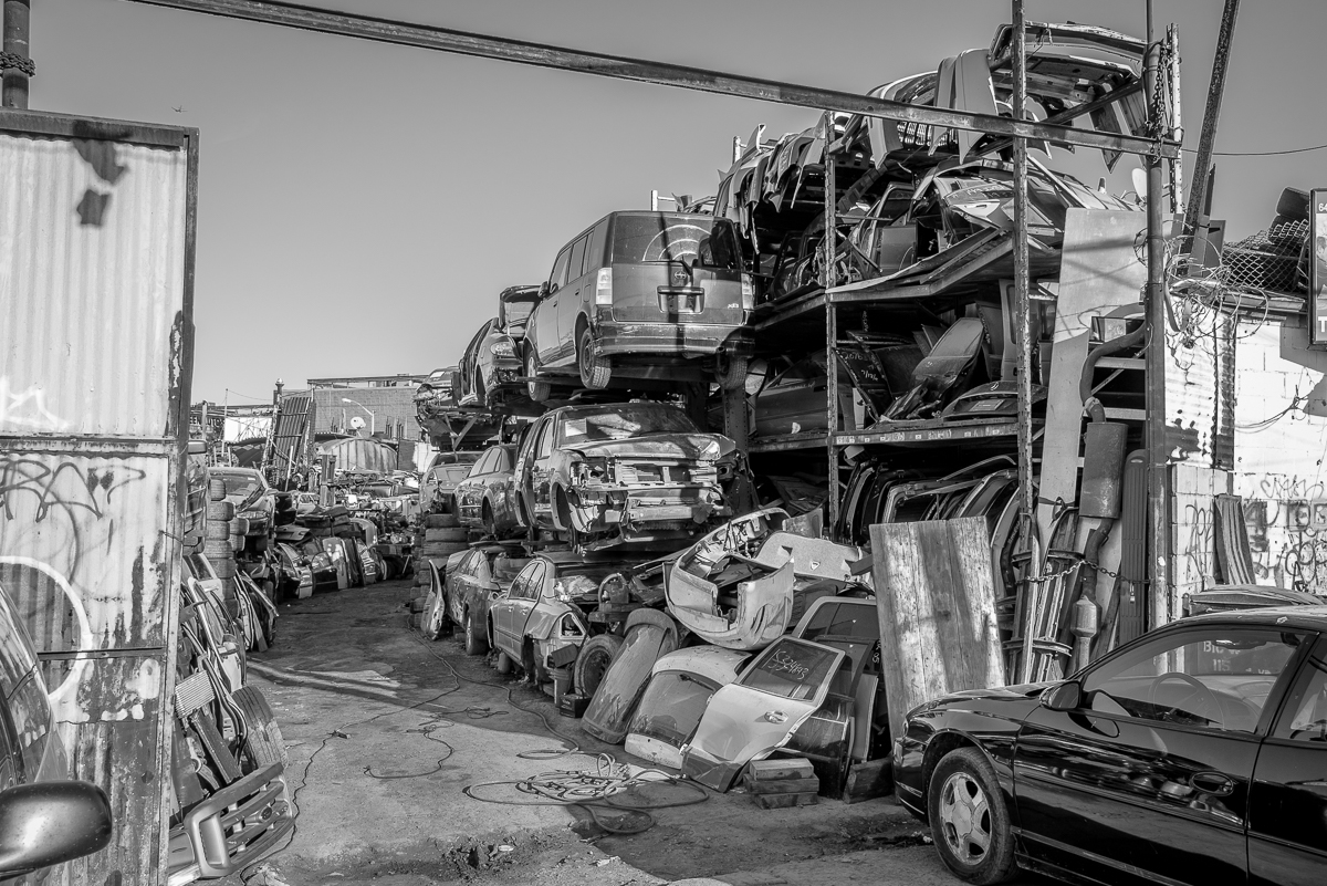 Willets Point Boulevard is the main drag of the Iron Triangle with hundreds of auto, tire and muffler shops on either side of the street.