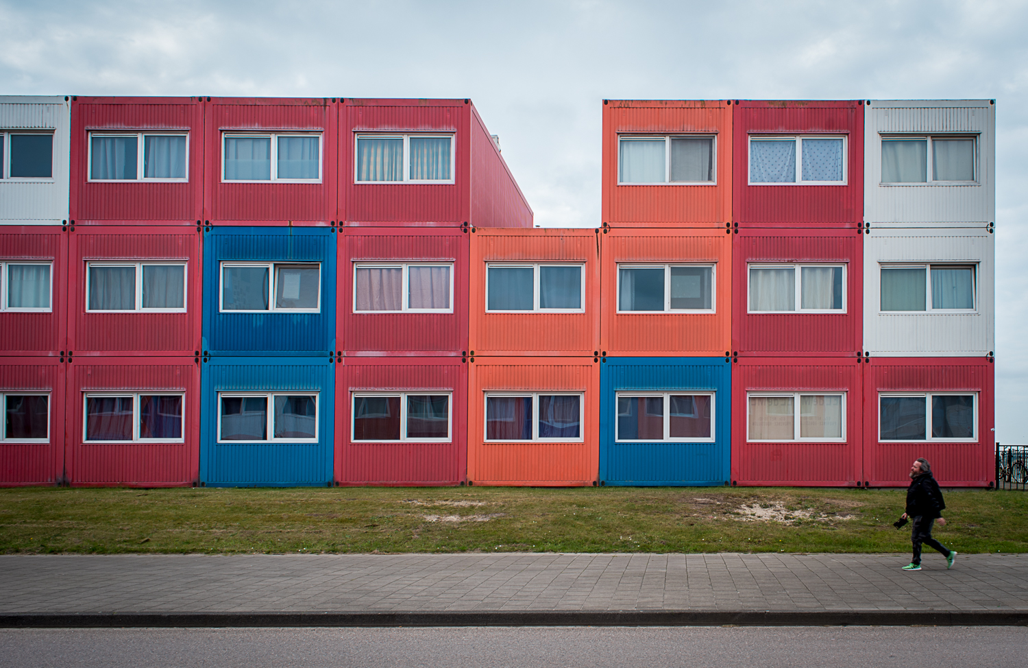 © Ayash Basu. Shipping containers converted into colorful, modular, and super cheap student housing for emerging artists. Yes, it's basic and a metal box but one can't beat the price for being in the heart of Amsterdam, where affordable housing is increasingly a distant dream.