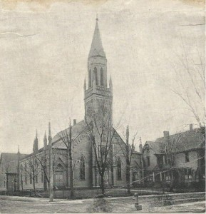 First Baptist Moncton 1857-1913 with 1887 expansion