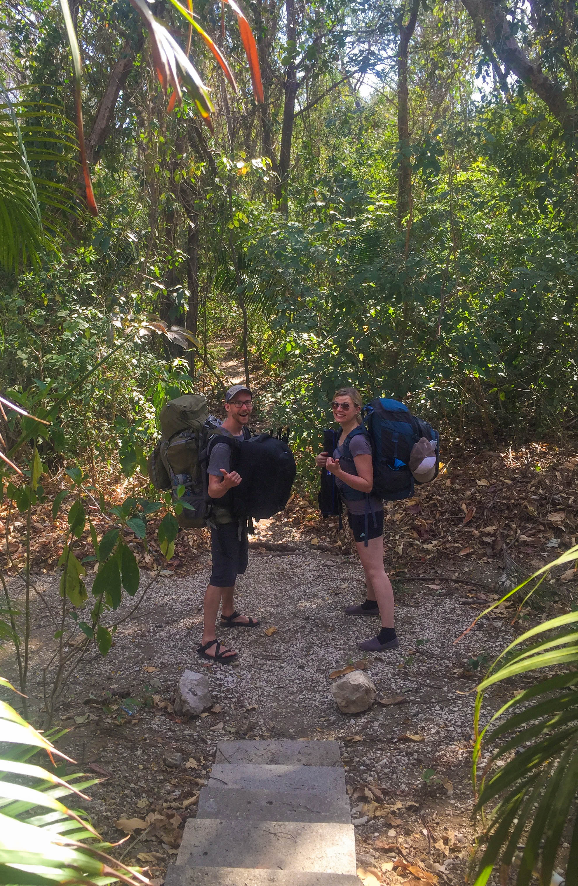 Nathan and ada Geared up in jungle.jpg