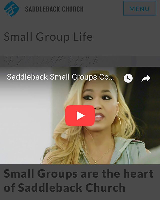 Honored To Be A Part Of @SaddlebackChurch #SmallGroups Campaign!  My Small Group Has #Changed My Life By Growing Spiritually & Sharing The #Love Of #Christ Through #Prayer & Fellowship. One Of The Best Choice's I've Ever Made. Thankful & Full Of #Gratitude #LeveledUp *Link In Bio ♥️ #SaddlebackChurch