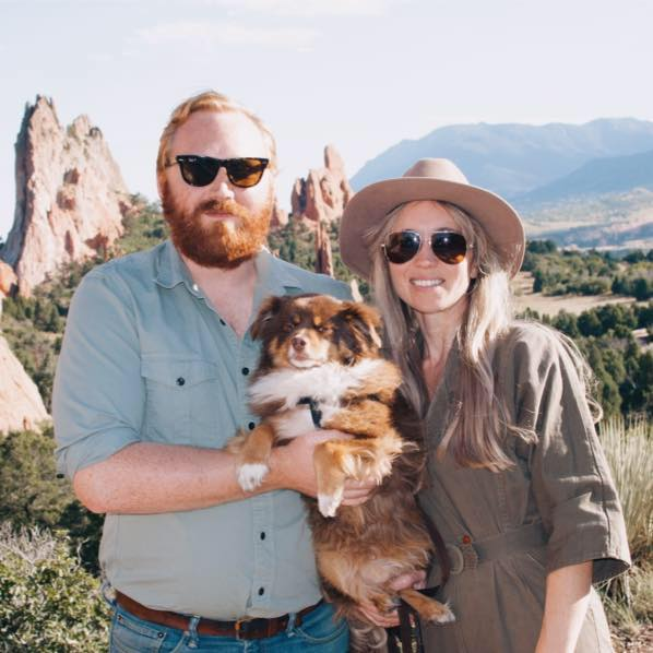 Me,Fox, and Stella at the Garden of the Gods.