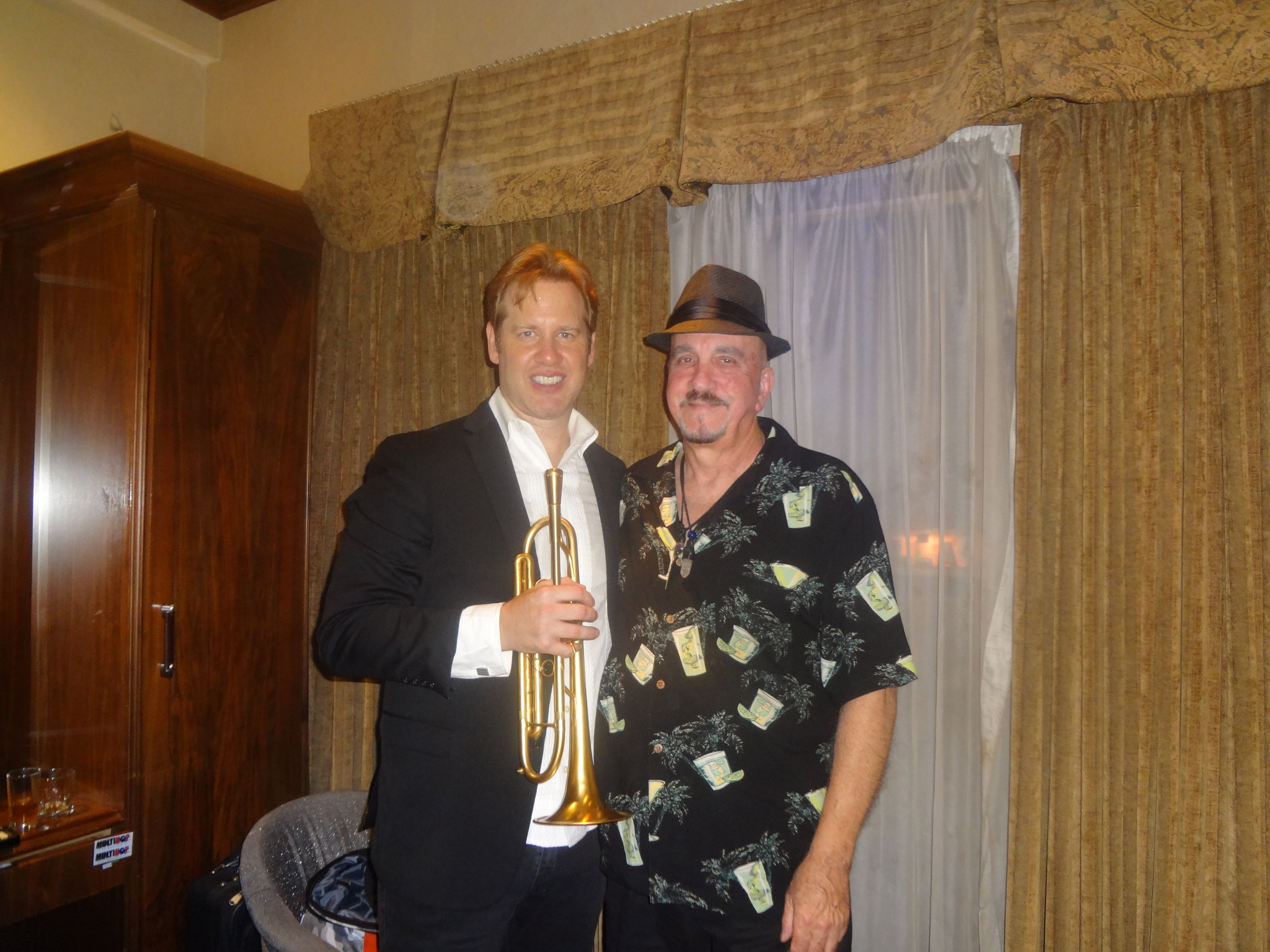 Joe Gransden and Rich Pulin at the Blue Note Jazz Club - New York - July 11, 2016