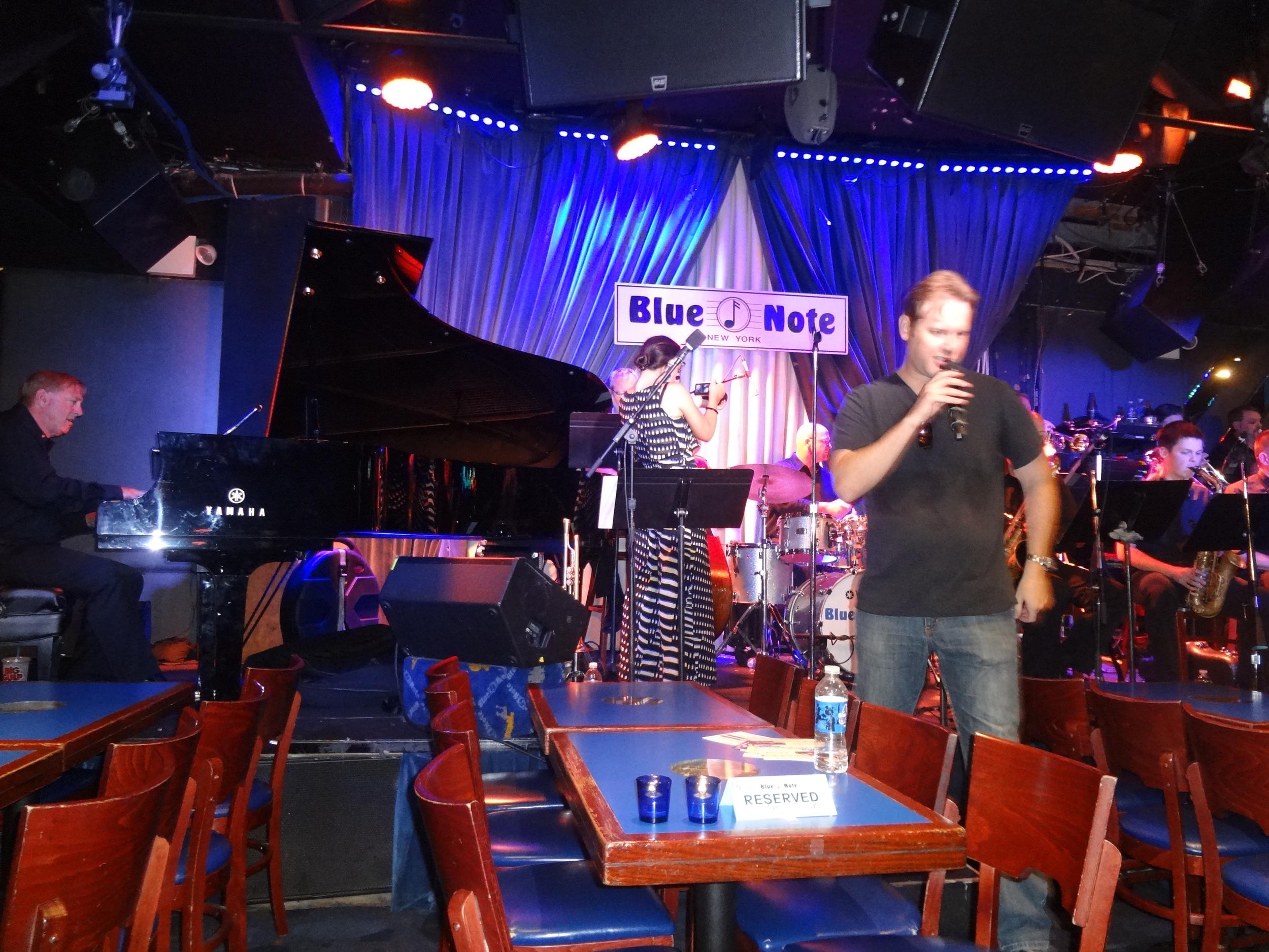 Joe Gransden and Big Band rehearsing