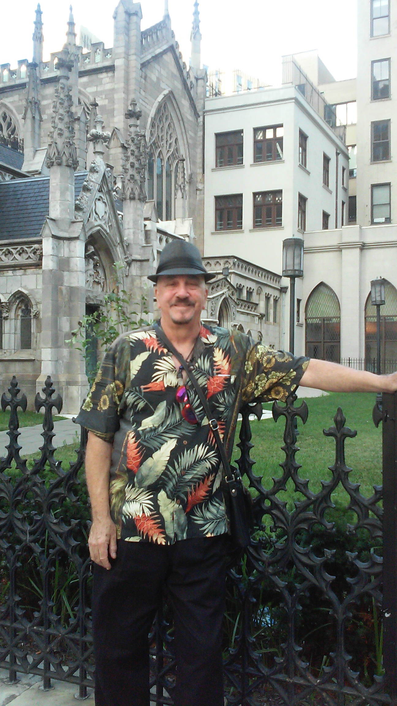 Rich enjoying New York City before the Blue Note