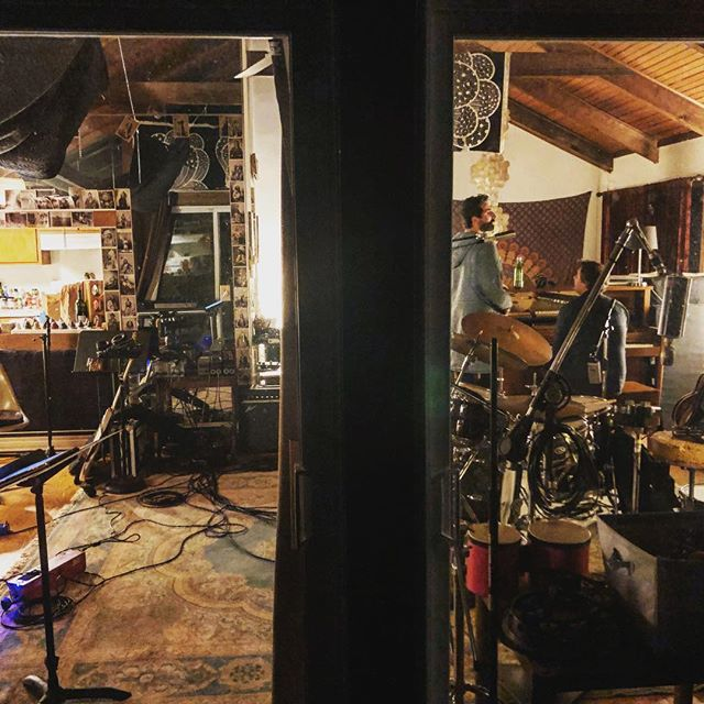 The night view, with @davidlizmi and @aynsleyjohn, working on @josiahjohnson new record. #recording #studio #recordingstudio