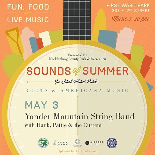 Charlotte, NC tonight!  Come kick off festival season with us in First Ward Park for Sounds Of Summer!  #firstwardpark @mecklenburgcounty @meckparkrec