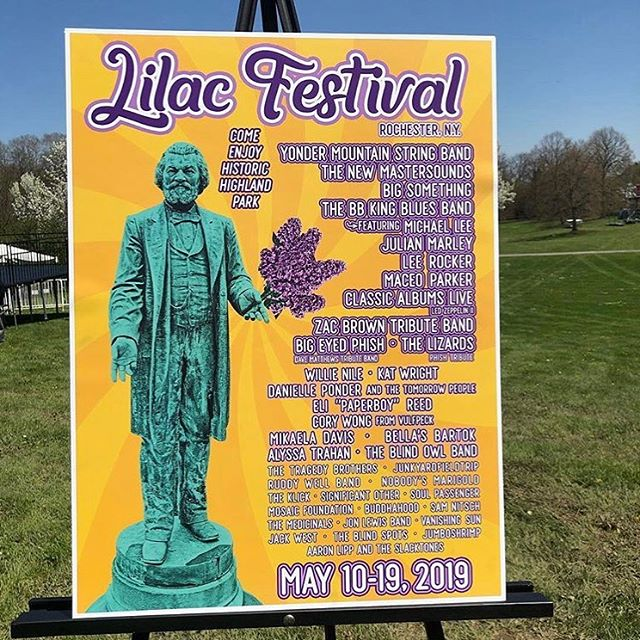We're excited to play the opening night of the 2019 Rochester Lilac Festival tomorrow, Friday May 10th.  Come breathe in the sweet smells of bluegrass in historic Highland Park.  @rochesterlilacfestival #yondersummer2019