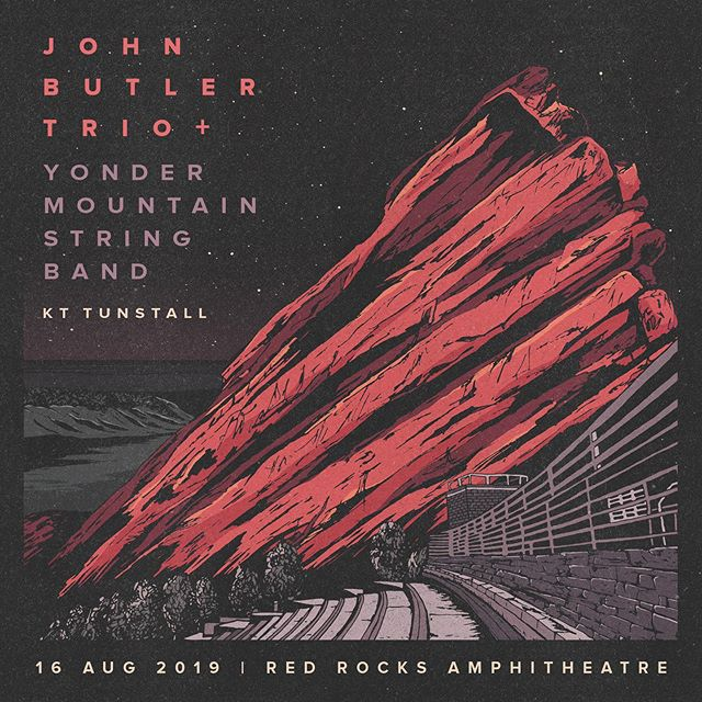 We are excited to announce that KT Tunstall has been added to the lineup of our 8/16 Red Rocks show with John Butler Trio!  This will be an incredible evening of international talent at the world's premiere music venue, right here in our backyard.  Get your tickets now and we will see you on The Rocks.  #yonderrocks2019 @redrocksco @johnbutlertrio @kttunstall @aegpresentsrm