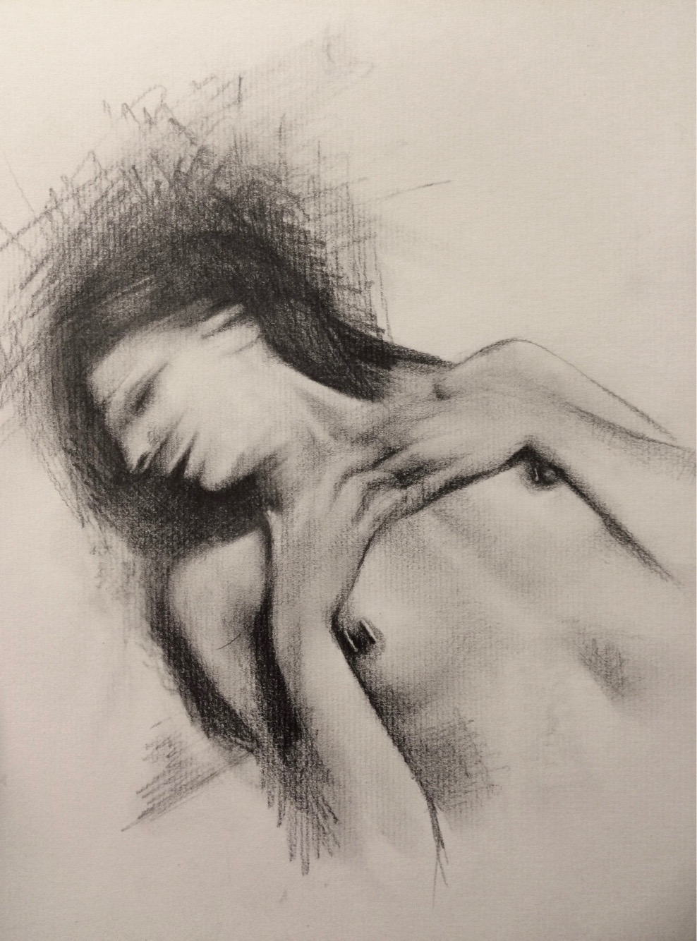 """Not Again!   Graphite on Paper   9""""x12""""  2018"""