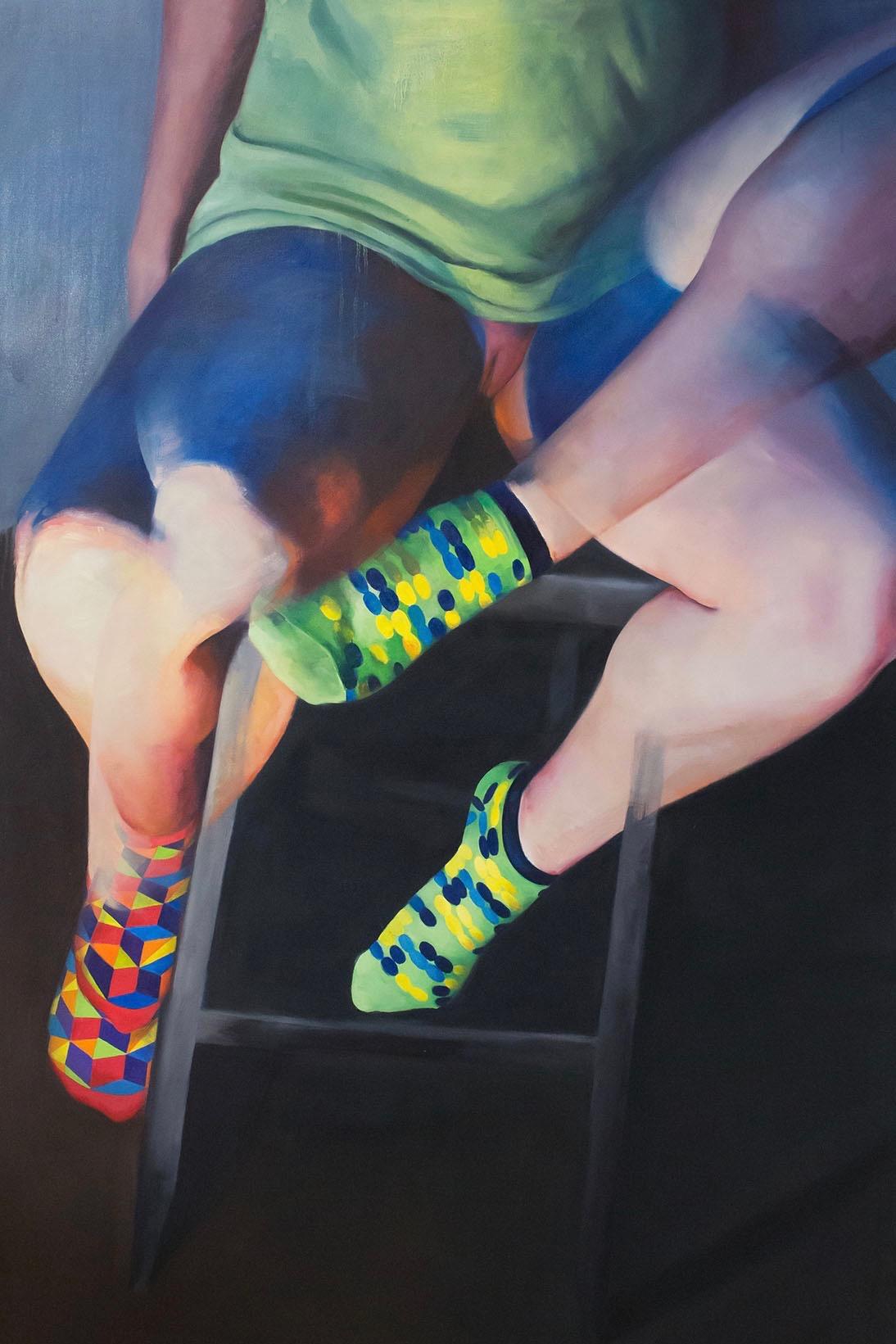 "Teetering   Oil on canvas  60""x40""  2014"