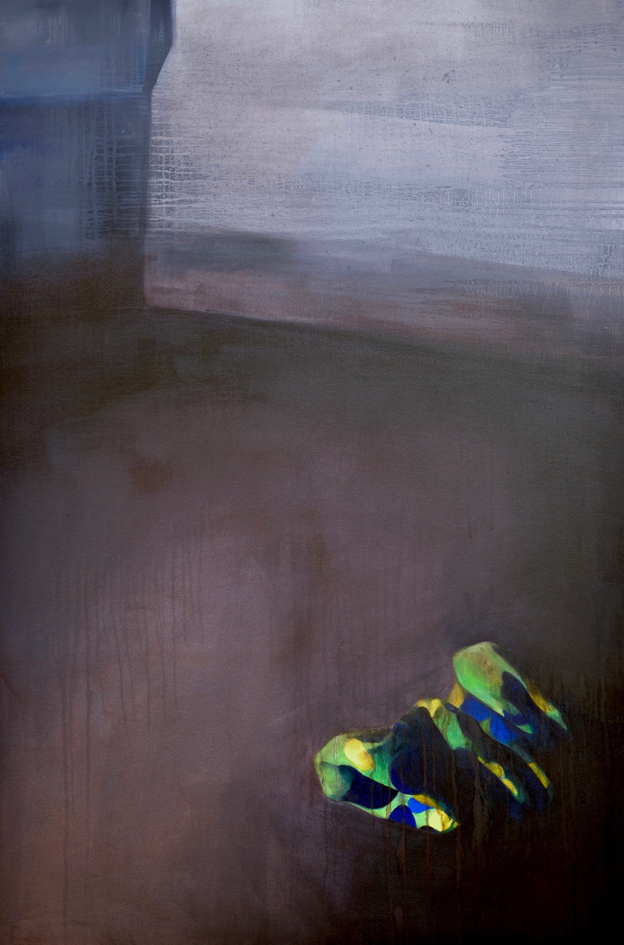 "Soiled   Oil on canvas  60""x40""  2014"