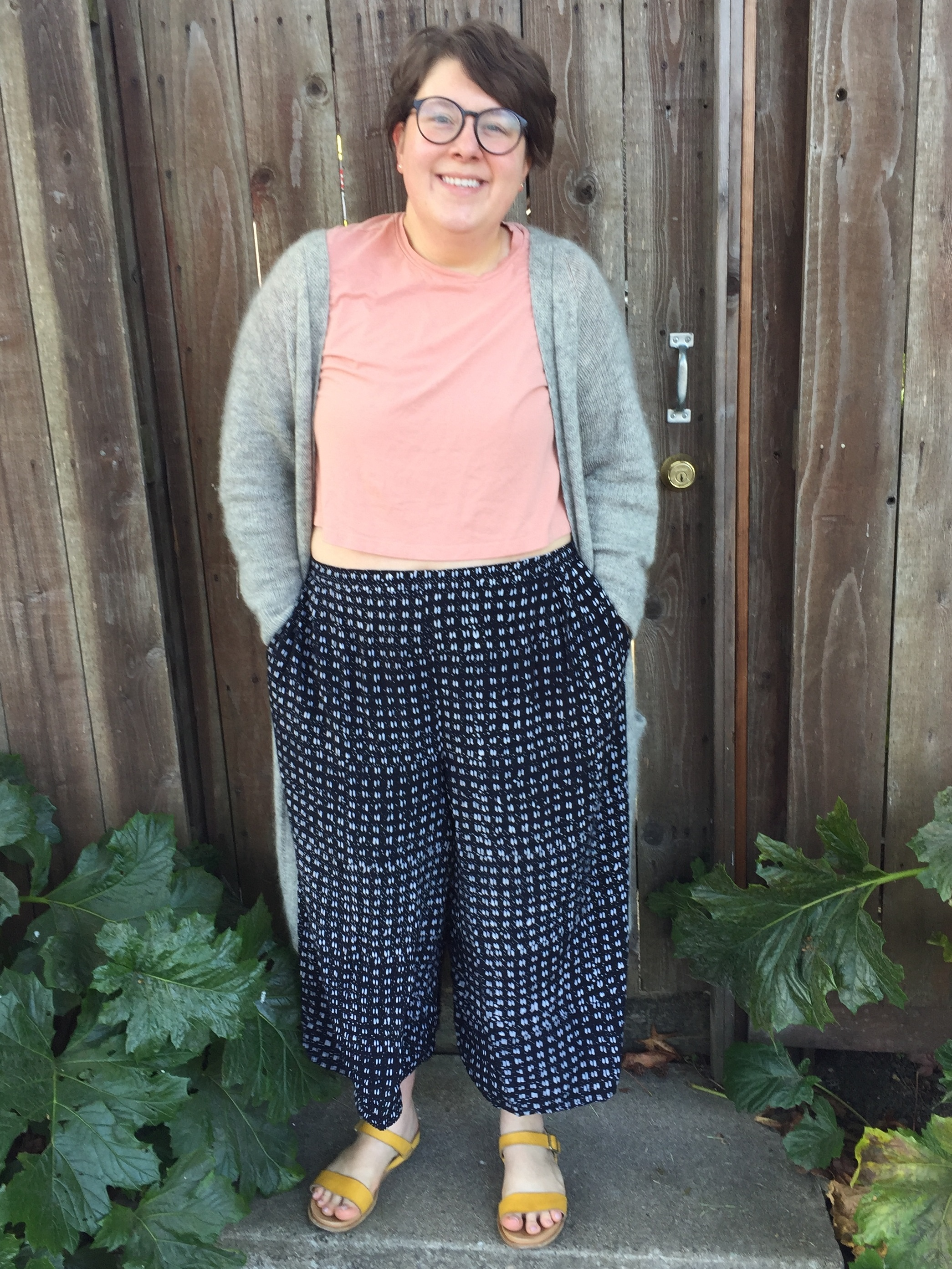 May 3: Mercury Collection Trousers in Rayon, No Frills Cardigan