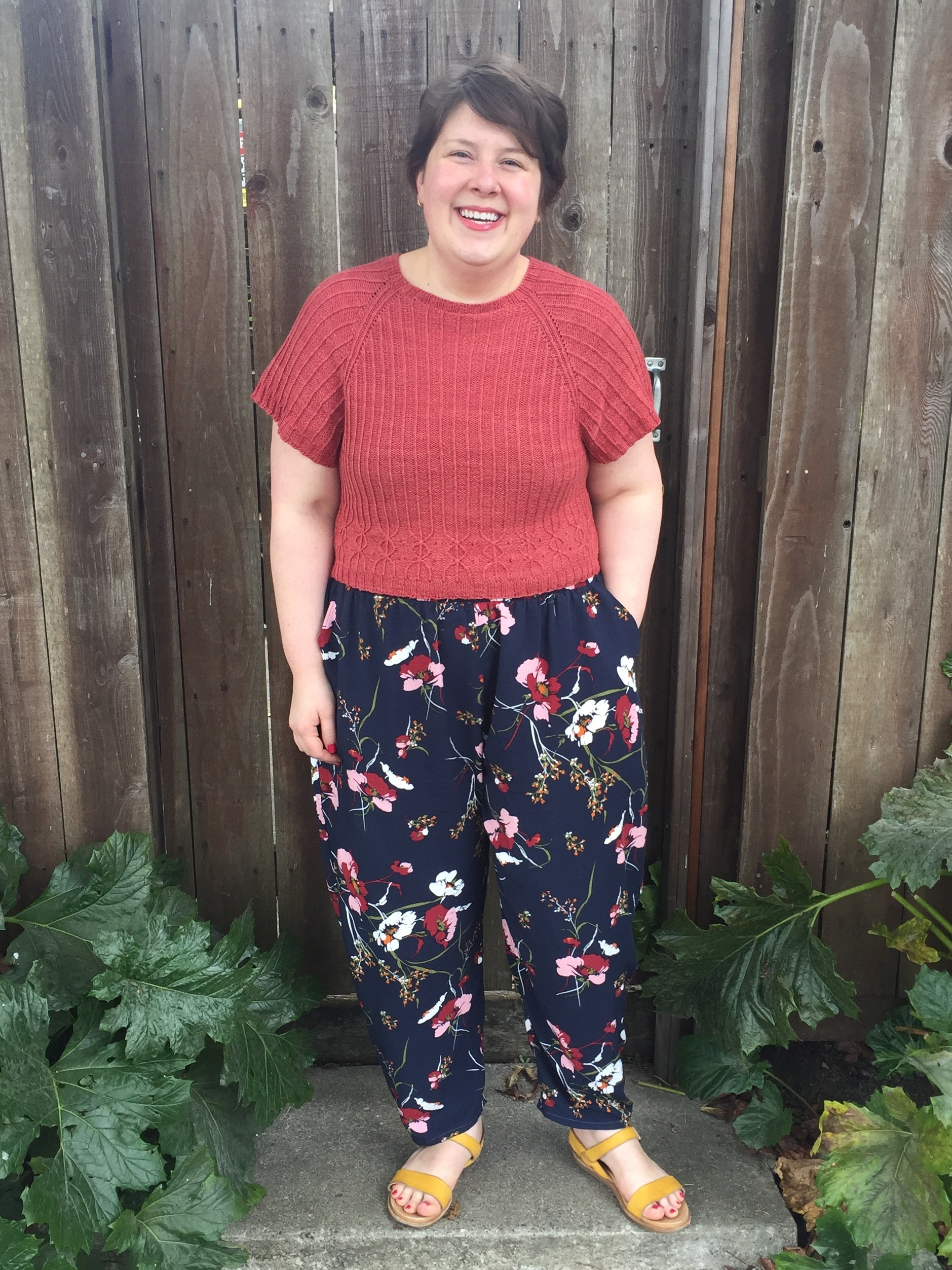 May 4, Part I: Freemantle Pants in Rayon Poplin, Minaret Crop