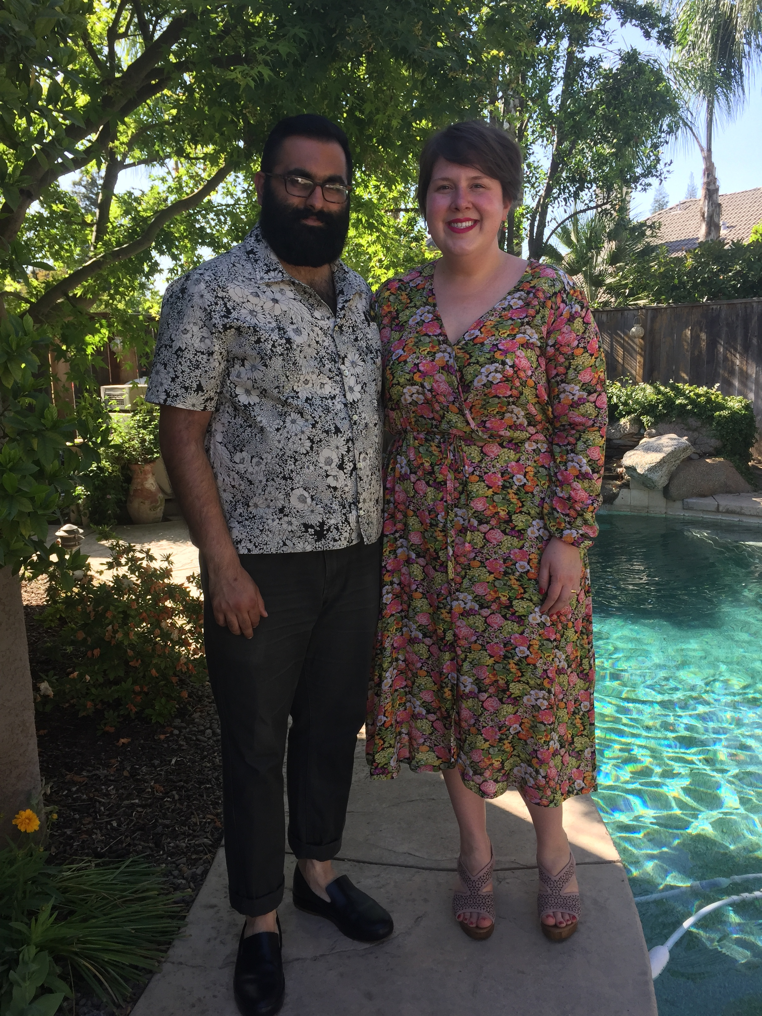 May 4, Part II: Wedding ready in an Orchid Midi in Crinkle Rayon and an All State Shirt.