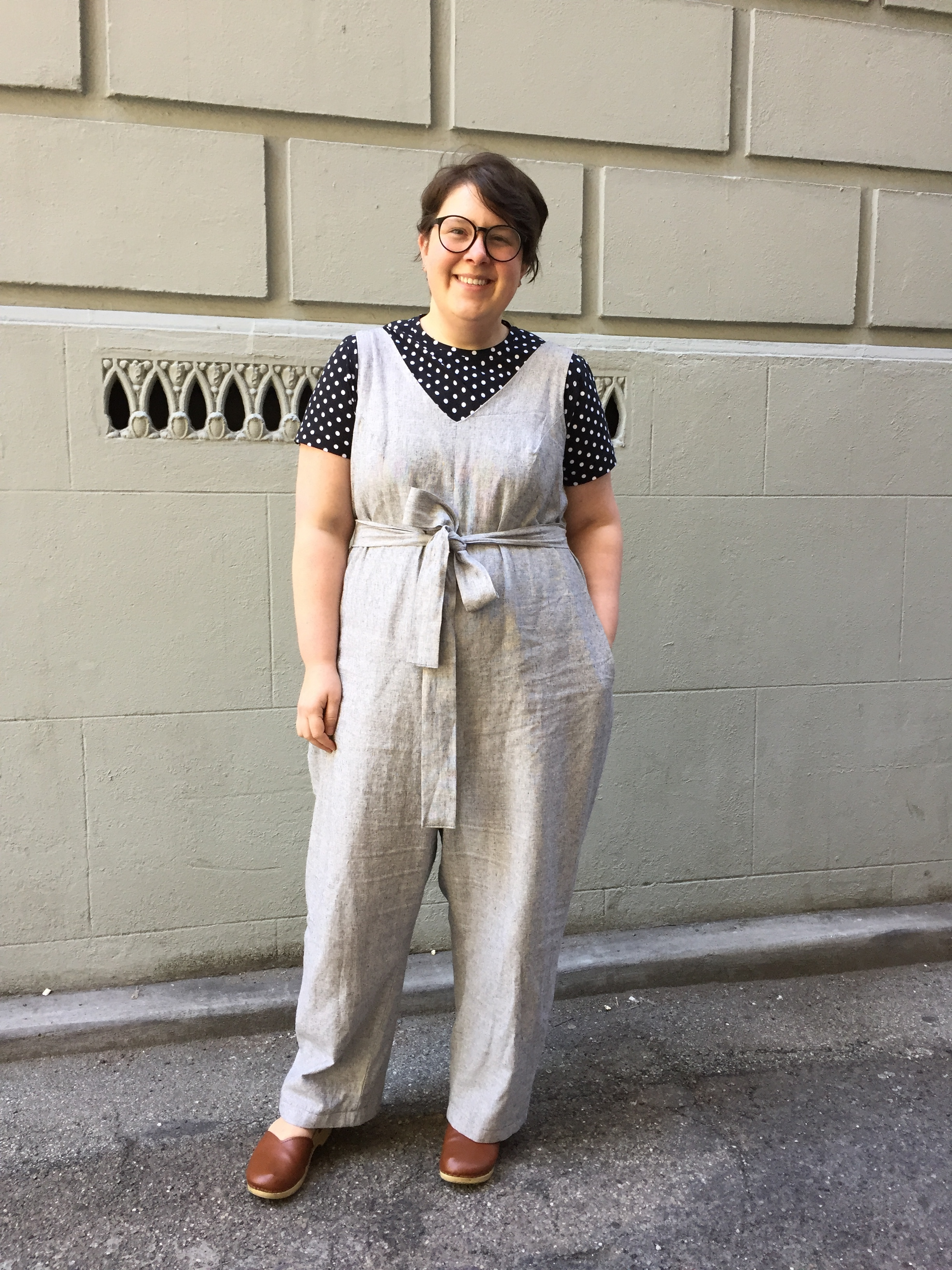 May 22: Peppermint Jumpsuit from In the Folds & my first sewn tshirt! Peak T-Shirt from Wendy Ward's book!