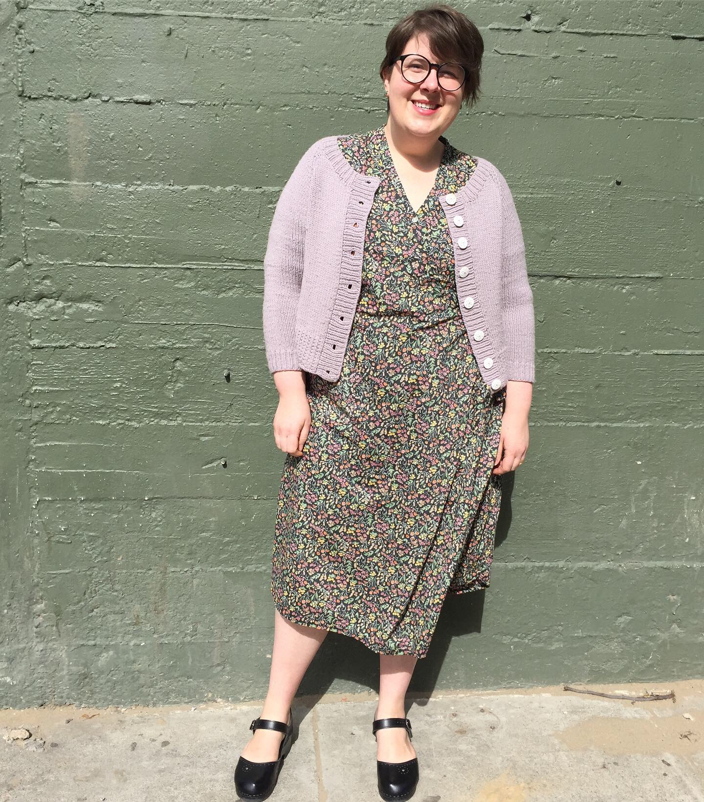 May 23: Isca Wrap Dress in Liberty Tana Lawn & Ramona Cardigan