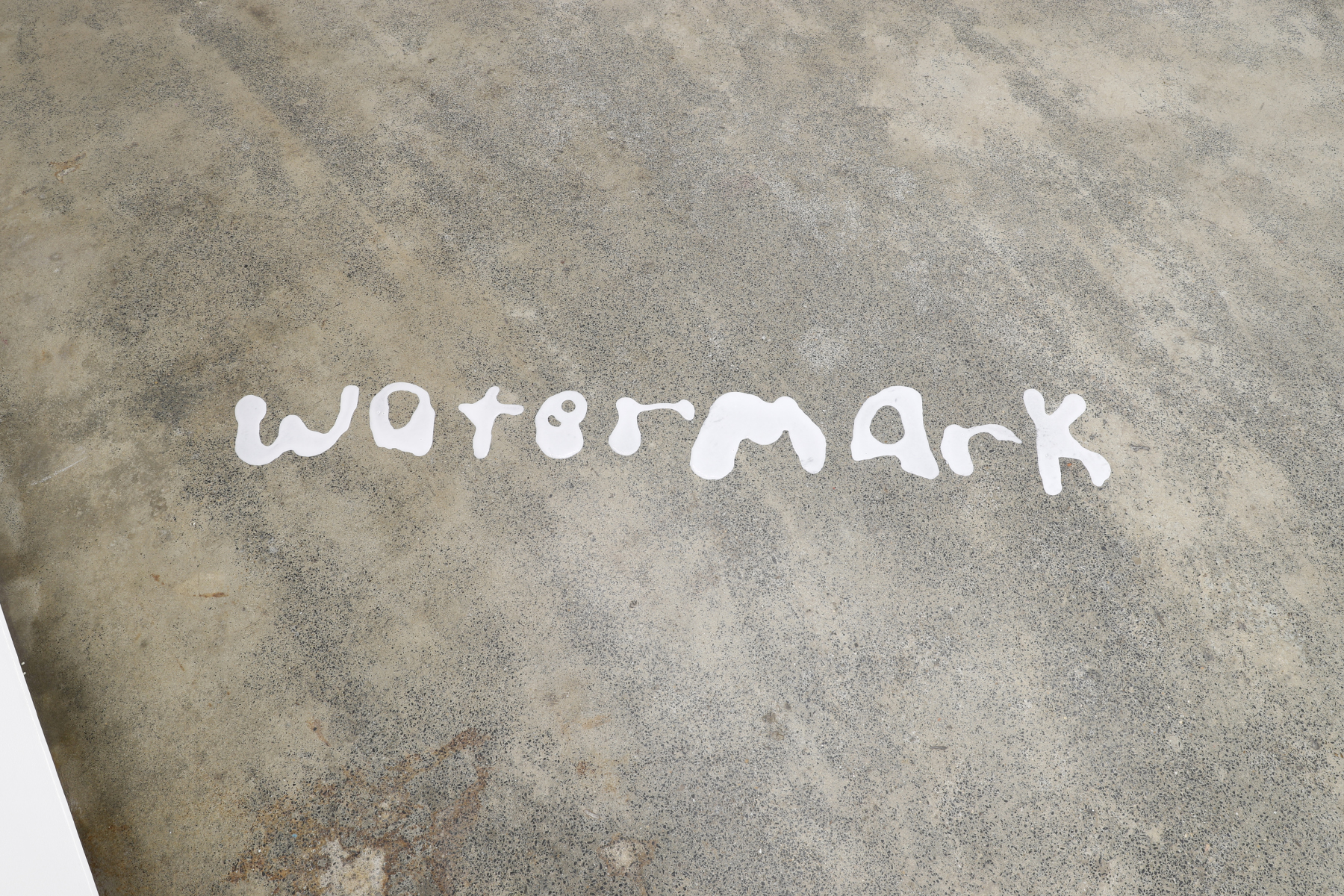 watermark (the word)  . 2019. PVA wood glue. dimensions variable