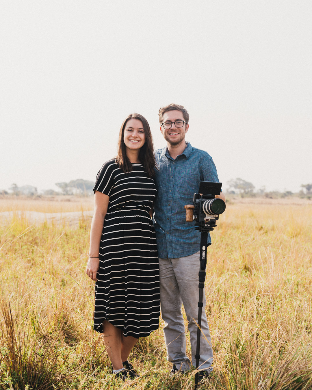 Blake & Melanie Hemmerling in Uganda, Africa shooting a project.