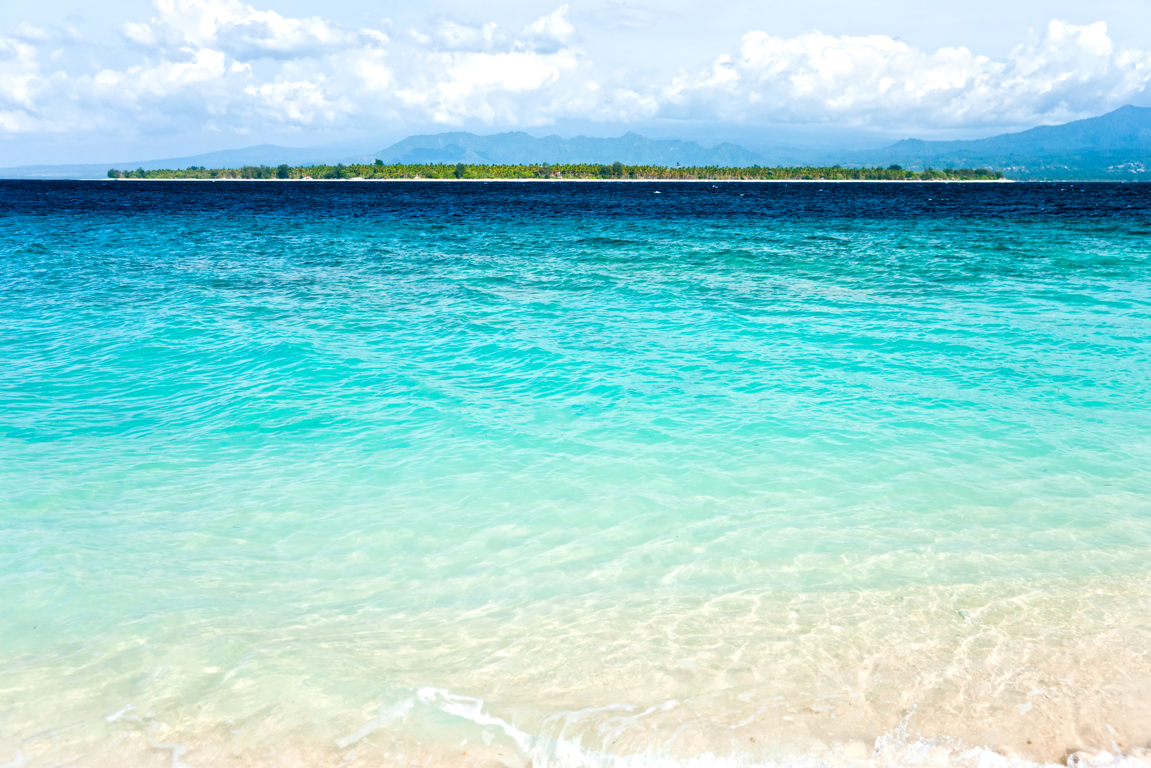 Gili Air Island from Gili Meno beach