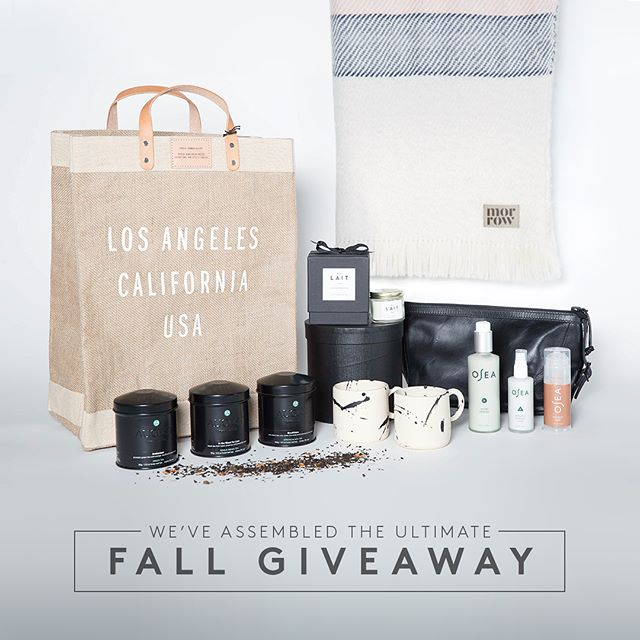 Before the holidays take over, take some time for yourself. We are offering you the U L T I M A T E Fall Restore G I V E A W A Y with some of our favorite brands. To enter to win, follow all the brands below, comment #restore and tag three friends. Winner to be drawn at random on 11/10/17.  @morrowsoftgoods @augustuncommon @mrchrisearl @oseamalibu @stephenkennstudio @shoplait @alchemyworks
