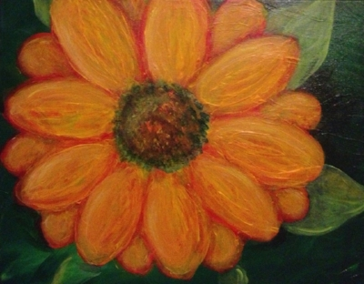 """Our January 2016 """"Wild Flower"""" Painting"""
