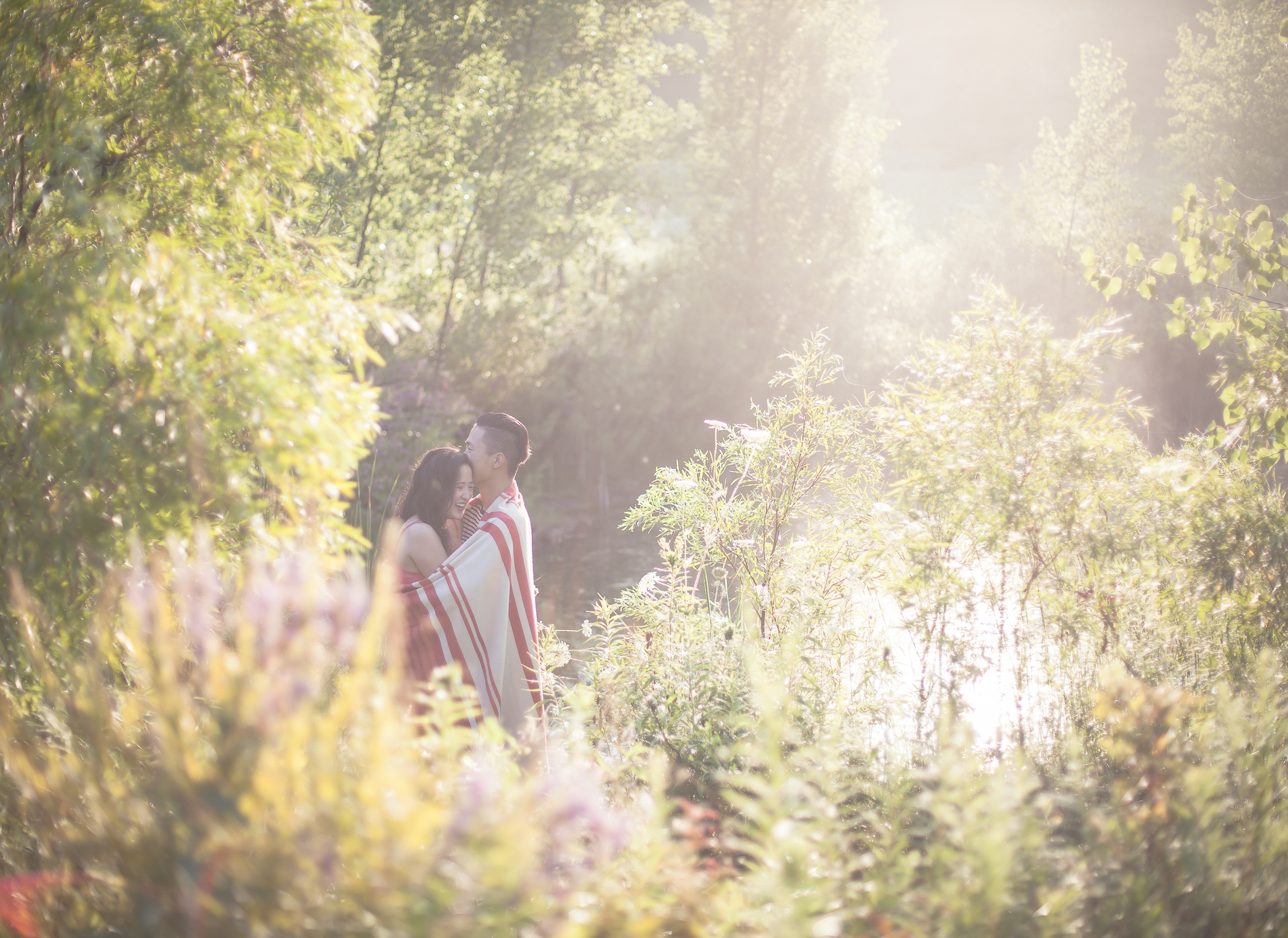 Engagement session at Evergreen Brickworks
