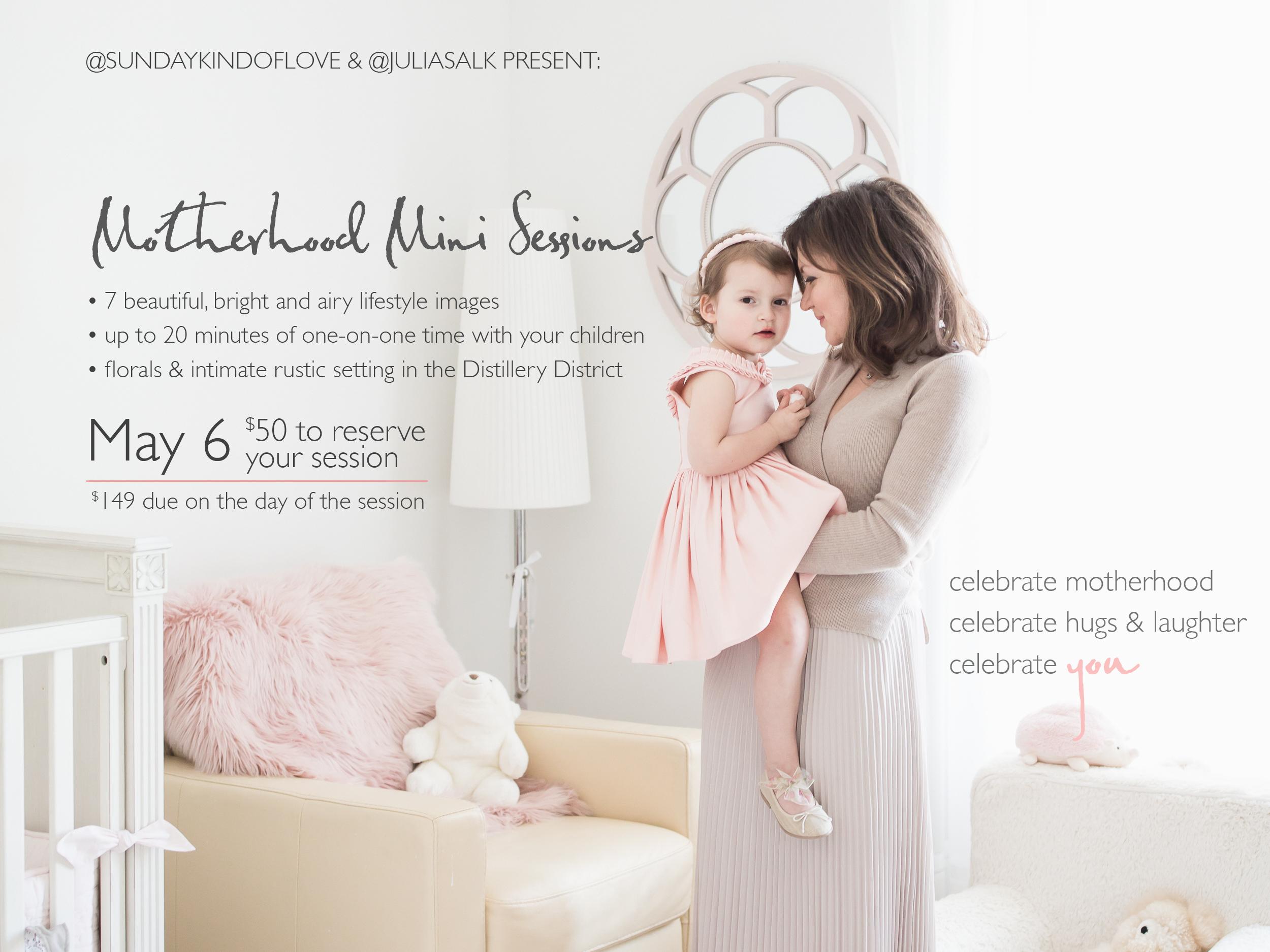 Motherhood Minis in Toronto - Mother's Day Photos