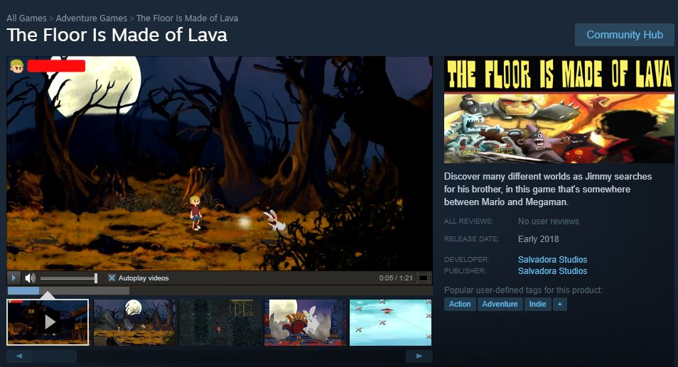 Here's a screen shot of our page on  Steam!