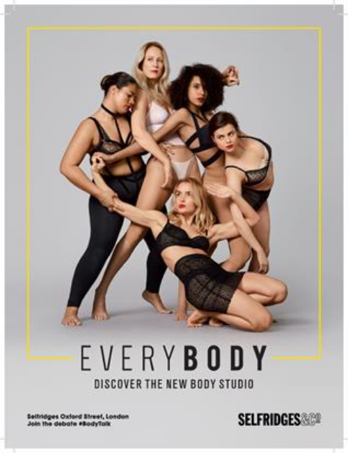 selfridges new body positivity campaign