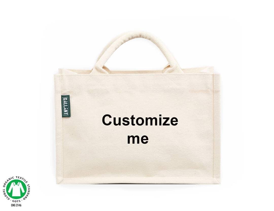 custom organic muslim tote bags