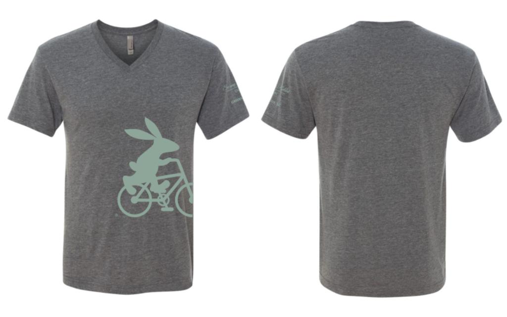 Swamp Rabbit Inn Gray V Neck T Shirt