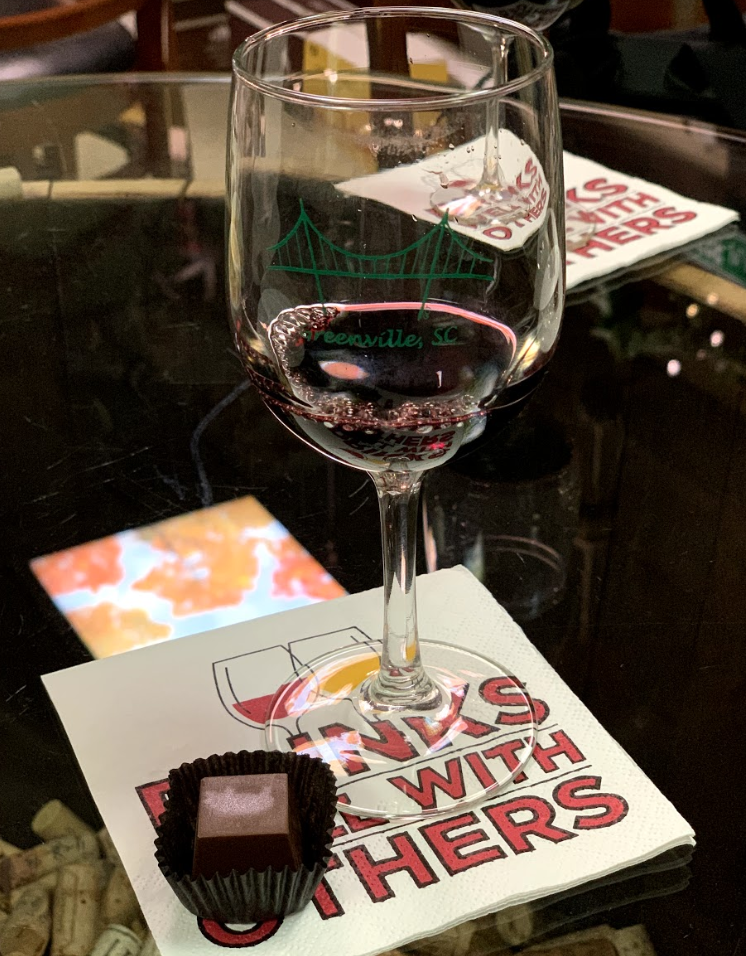 Wine and chocolate pairing at Jerky & Vine