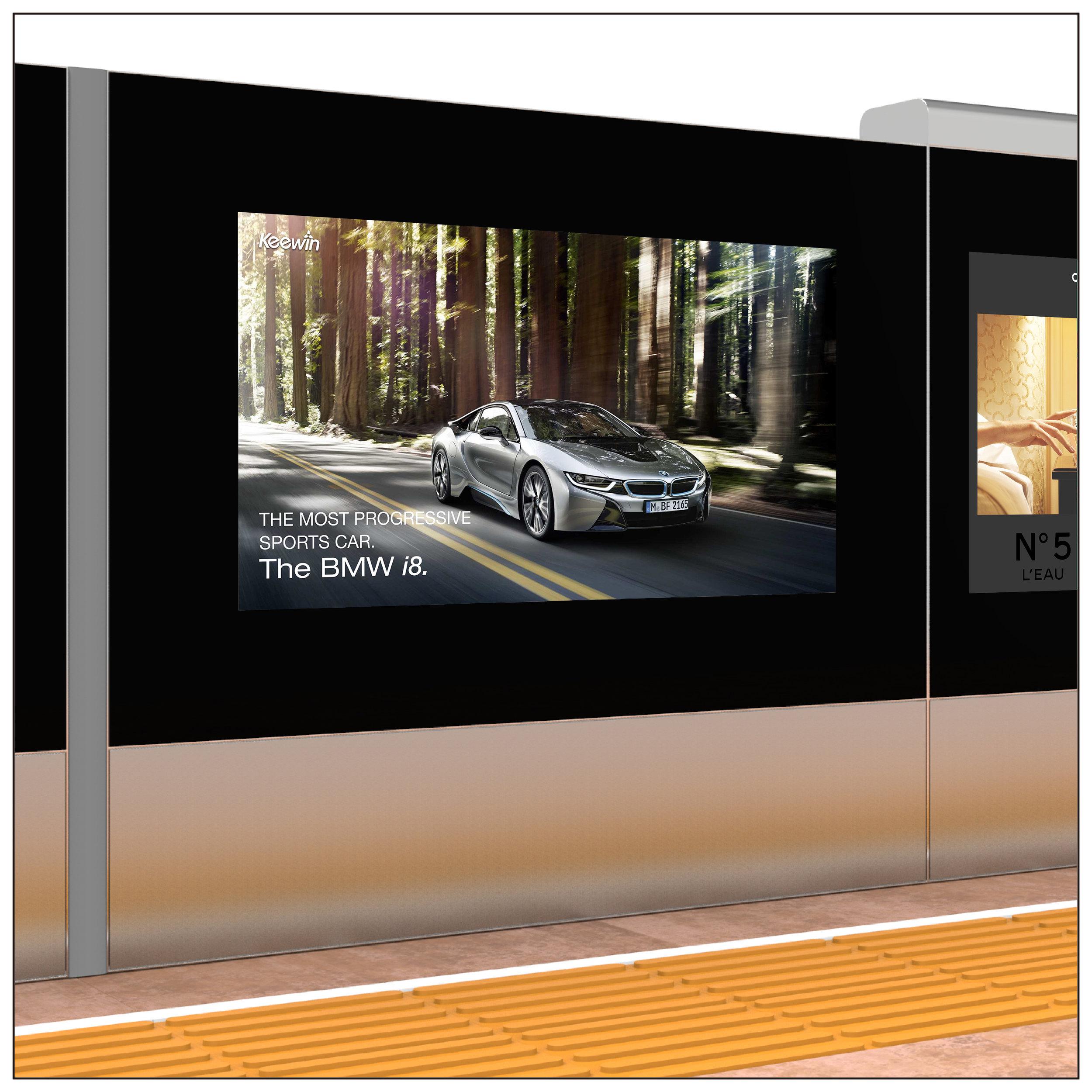 Train / Metro Platform Screen Door Displays