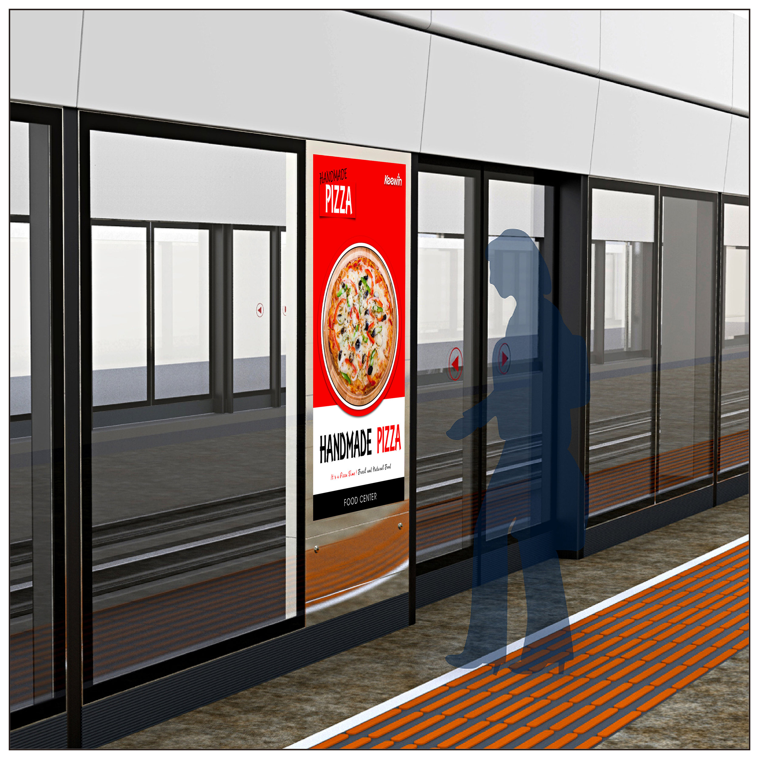 Train /Metro Platform Screen Door Displays